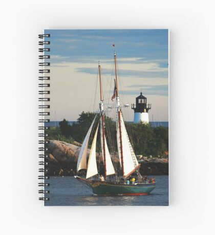 Thomas E. Lannon sails past Ten Pound Island Light Spiral Notebook