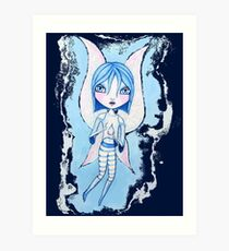 Water Fairy (Blue Version) Art Print