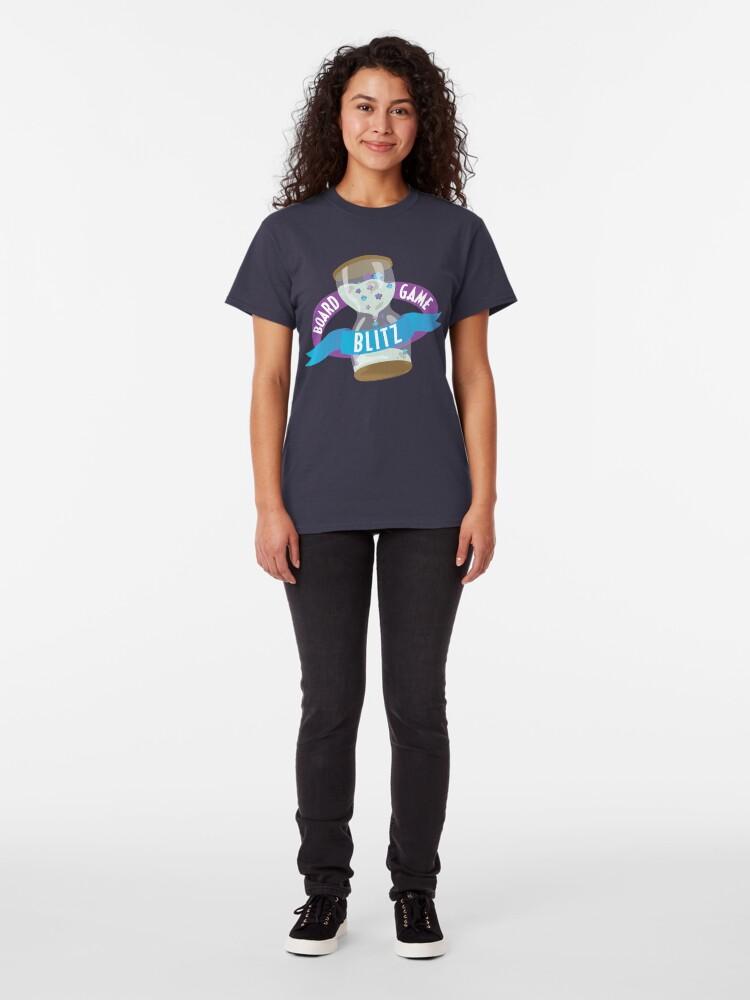 Alternate view of Board Game Blitz Logo Classic T-Shirt