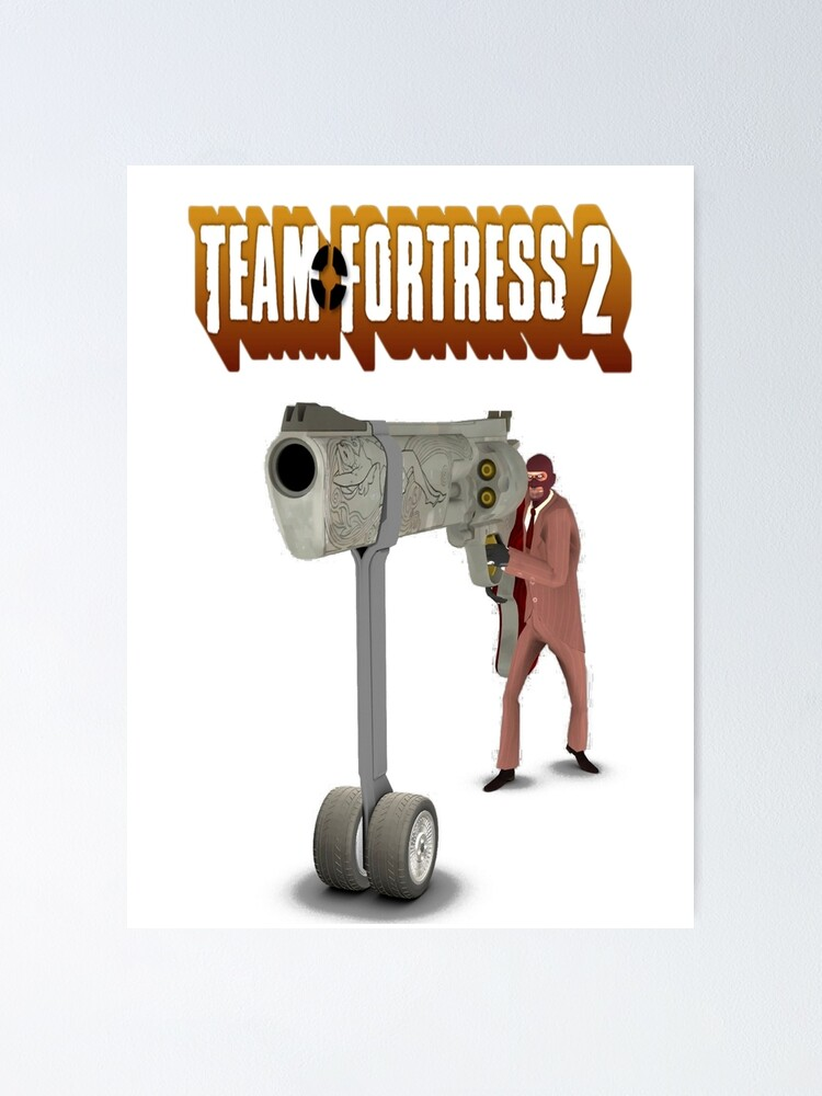 Team Fortress 2 Spy Holding Giant Ambassador Poster By