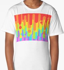 Rainbow Drip Long T-Shirt