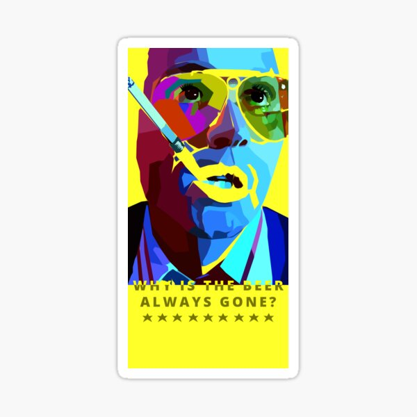 Fear And Loathing In Las Vegas Painting Sticker