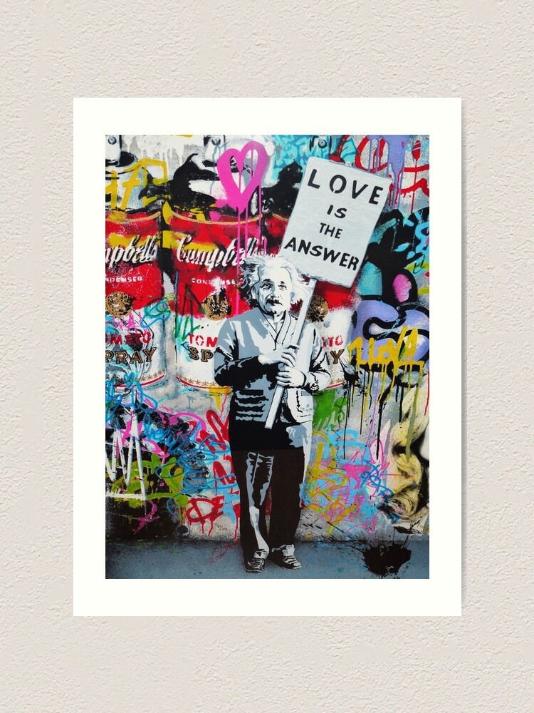 Alternate view of Love is the  Art Print
