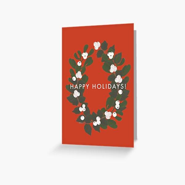 Happy Holidays! Wreath Greeting Card