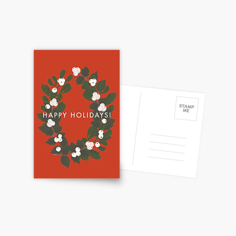 Happy Holidays! Wreath Postcard
