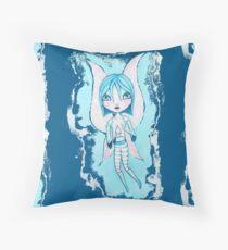 Water Fairy (Cyan Version) Throw Pillow