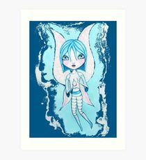 Water Fairy (Cyan Version) Art Print
