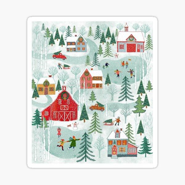 New England Christmas Sticker