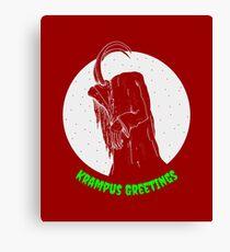 Krampus Red Canvas Print