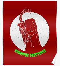 Krampus Red Poster