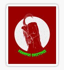 Krampus Red Sticker