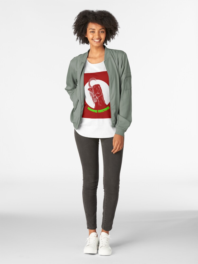 Alternate view of Krampus Red Premium Scoop T-Shirt
