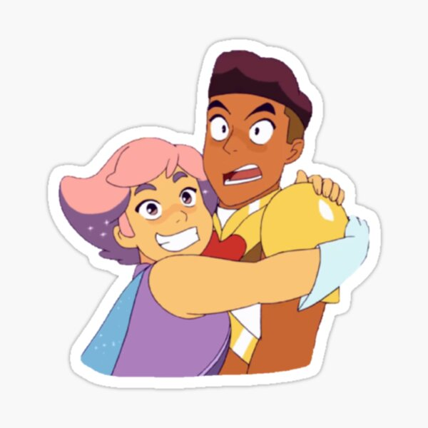 Glimmer & Bow Hug | She-Ra and the Princesses of Power Sticker