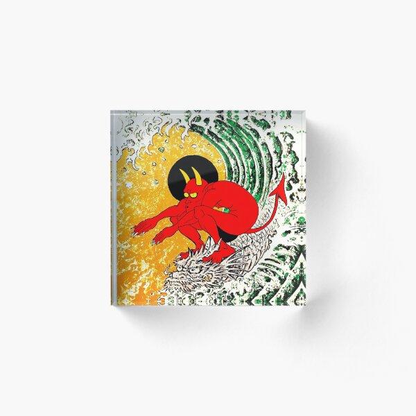 Surf Or Die Acrylic Block