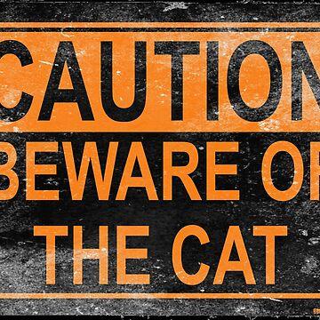Caution Cat by darklordpug