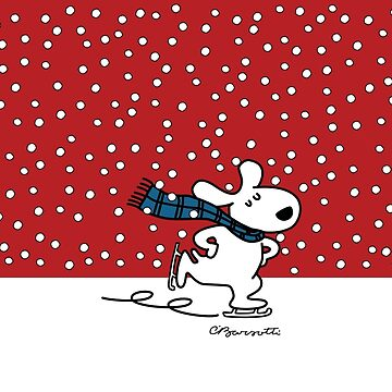 Pup Skating in the Snow by CharleyBarsotti