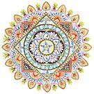Passion Flower Mandala by Julie Ann Accornero