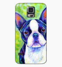 Colorful Boston Terrier Dog Case/Skin for Samsung Galaxy