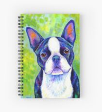 Colorful Boston Terrier Dog Spiral Notebook
