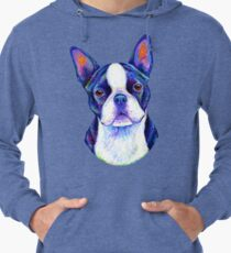 Colorful Boston Terrier Dog Lightweight Hoodie