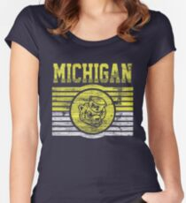 Darren Criss Fox Campaign: Michigan Wolverines Women's Fitted Scoop T-Shirt