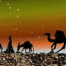 Camel Silhouettes at Sunset by ChiaraLily
