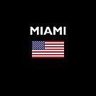 Miami USA American Flag Dark Color by TinyStarAmerica