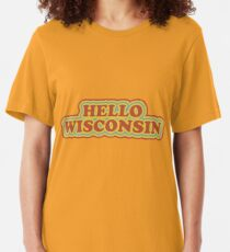Hello Wisconsin Slim Fit T-Shirt
