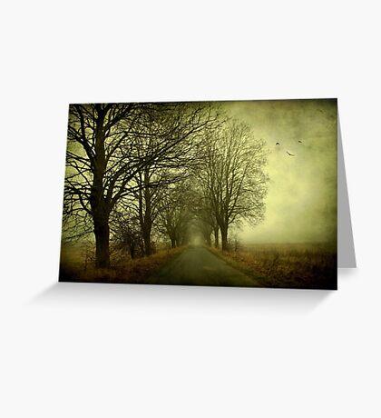 Empty way Greeting Card