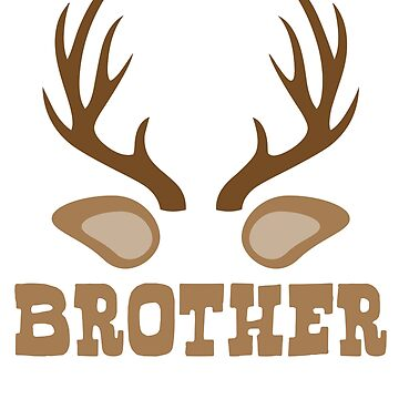 Reindeer Brother T shirt by 3familyllc