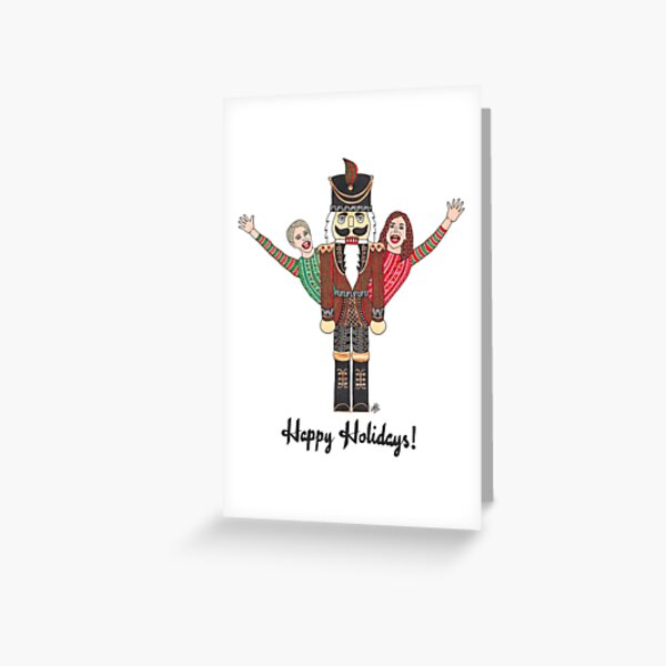 RHONY - Dorinda and Bethenny - Nutcracker Greeting Card