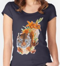 Tiger Lilies Women's Fitted Scoop T-Shirt