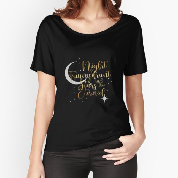 Night and Stars - Black Relaxed Fit T-Shirt