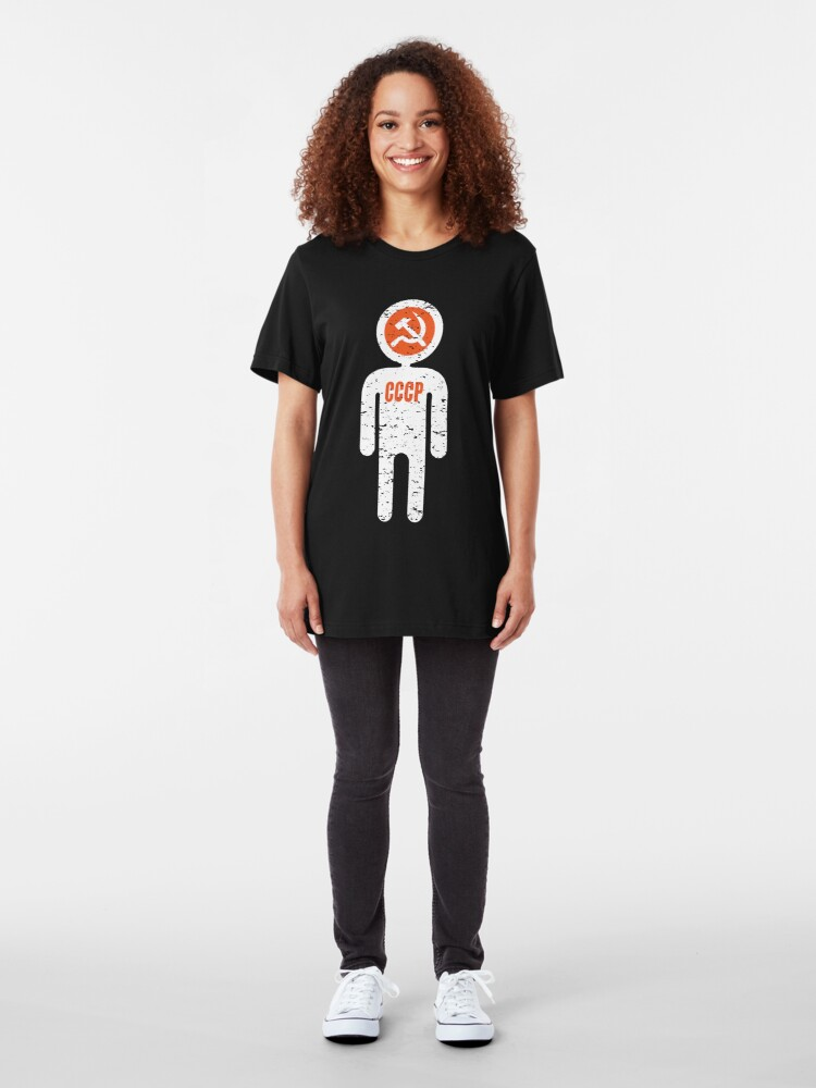 Alternate view of soviet astronaut Slim Fit T-Shirt