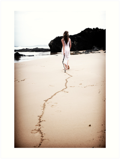 Drawing a line in the sand by Trish O'Brien