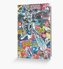 Vintage Comic Silver Surfer Greeting Card