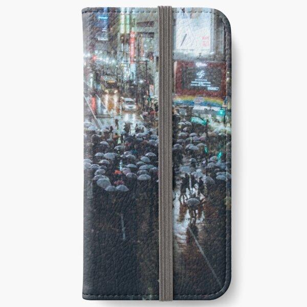 Shibuya crossing at Rainy Night iPhone Wallet