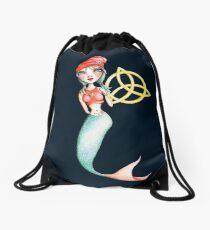 Meara the Irish Mermaid Drawstring Bag