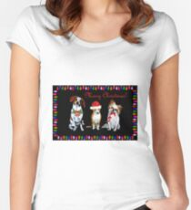 Christmas Trio Fitted Scoop T-Shirt