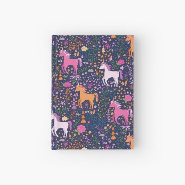 Unicorns in the Flower Garden Hardcover Journal