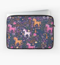 Unicorns in the Flower Garden Laptop Sleeve