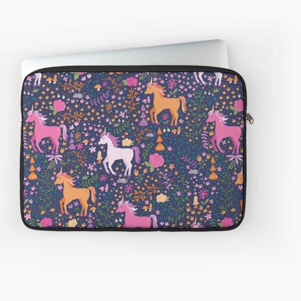 Unicorns in the Flower Garden Laptop Sleeve