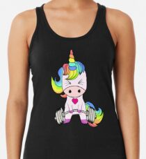 Unicorn Weightlifting Racerback Tank Top
