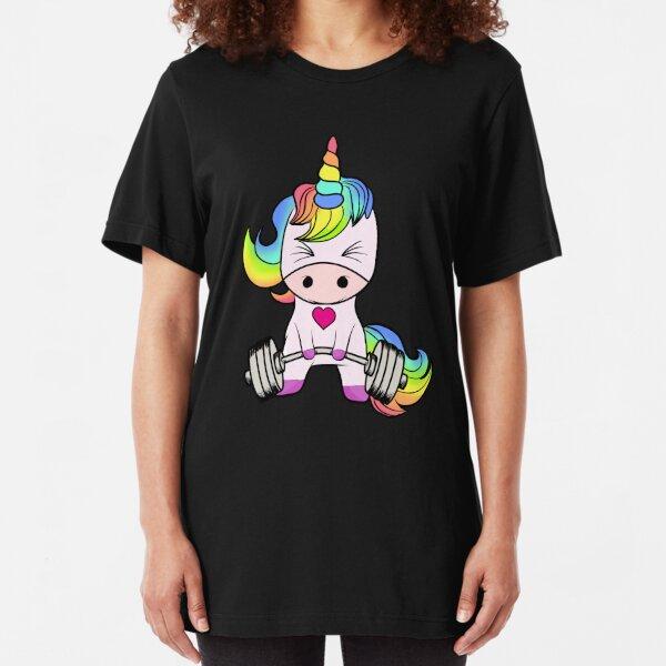 Unicorn Weightlifting Slim Fit T-Shirt