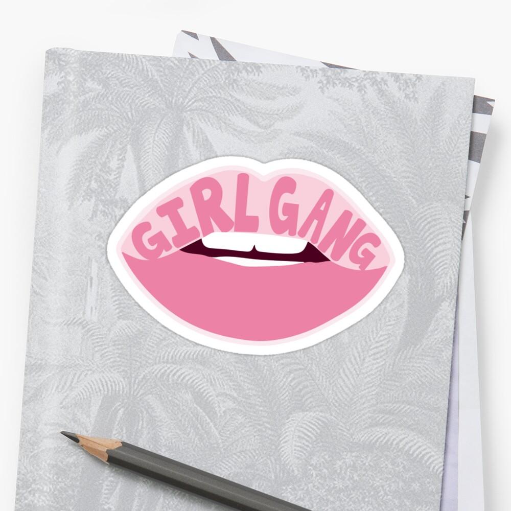 Mädchen Gang Sticker