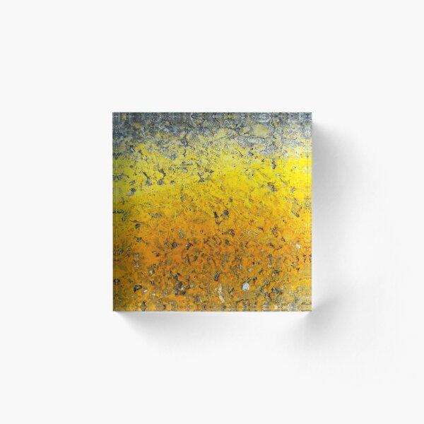 Orange and Yellow Bold Gradient Acrylic Block