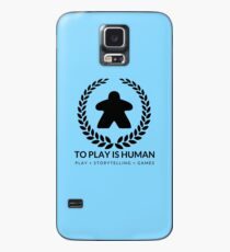 To Play Is Human (black & white) Case/Skin for Samsung Galaxy