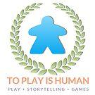 To Play Is Human (full logo, title, tagline) by toplayishuman
