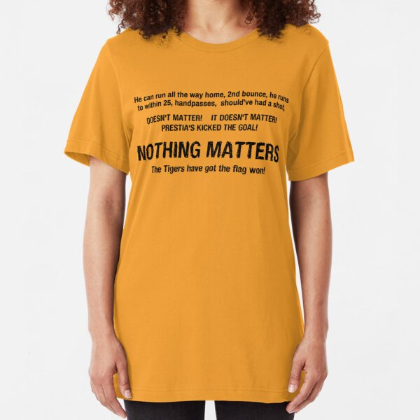 AW Nothing Matters - Richmond 2017 Yellow Slim Fit T-Shirt