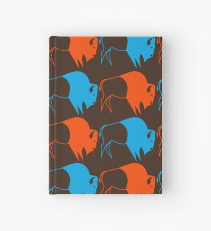 Orange Blue Buffalo Nation Hardcover Journal